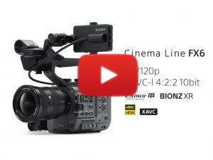 Cine fx6 Sony - Video